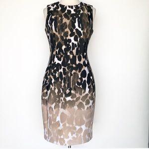 Calvin Klein animal print sheath dress